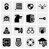 Ochrony wektorowa ikona ustawiająca na szarość Fotografia Stock