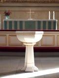 ochrzczenie chrzcielnica Zdjęcie Stock