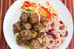 Ochsenschwanz-Curry mit Reis Lizenzfreies Stockfoto