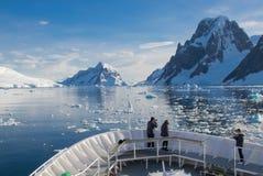 Ochtend in Antarctica royalty-vrije stock foto