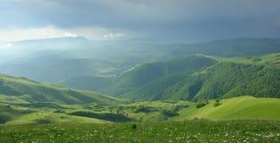 Ochtend in bergen Stock Foto