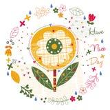 Ochtend bloemenillustratie Royalty-vrije Stock Fotografie