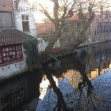 Ochtend in Brugge Royalty-vrije Stock Afbeelding