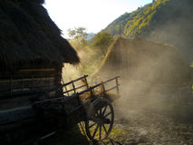 Ochtend in de dorps verse lucht Royalty-vrije Stock Fotografie