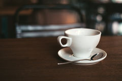 Ochtend in de koffie Royalty-vrije Stock Foto's