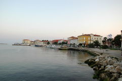 Ochtend in de oude stad Porec Kroatië Royalty-vrije Stock Afbeeldingen
