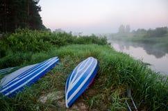 Ochtend in de rivier Royalty-vrije Stock Afbeeldingen