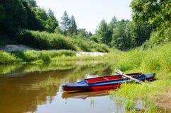 Ochtend in de rivier Royalty-vrije Stock Foto