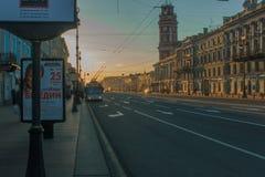 Ochtend in de Stad Stock Foto's