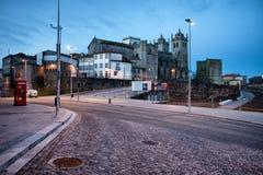 Ochtend in de Stad van Porto in Portugal Royalty-vrije Stock Foto's