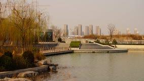 Ochtend dichtbij het Chinese het leven gebied parkï ¼ die ï ¼ ‰ ˆsping Royalty-vrije Stock Fotografie