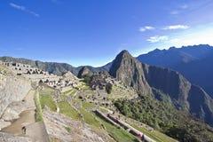 Ochtend die over Machu Picchu toenemen Stock Afbeelding