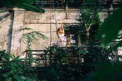 Ochtend in een de zomertuin Stock Afbeelding