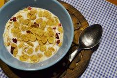 Ochtend een gezond ontbijt Stock Afbeelding