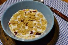Ochtend een gezond ontbijt Stock Foto's