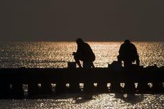Ochtend en oesters Stock Fotografie