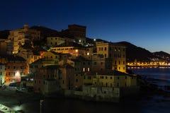 Ochtend in Genoa Boccadasse royalty-vrije stock fotografie