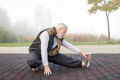 Ochtend gezonde oefening Stock Foto