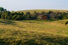 Ochtend in het Boerenerf stock afbeelding