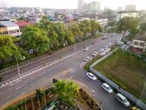 Ochtend in Kuching-Stad royalty-vrije stock afbeelding
