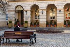 Ochtend Lviv Stock Foto's