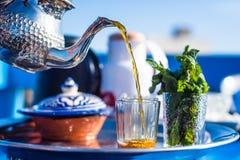 Ochtend Marokkaanse thee Royalty-vrije Stock Fotografie