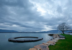 Ochtend in Meer Genève Royalty-vrije Stock Foto