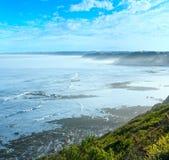 Ochtend oceaanmening van kust, de Golf van Biskaje stock fotografie