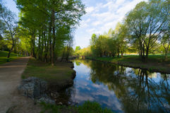 Ochtend op de rivier Stock Fotografie