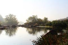Ochtend op de rivier Stock Foto