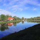 Ochtend op het meer Royalty-vrije Stock Fotografie