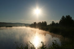 Ochtend op het meer Stock Fotografie