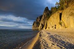 Ochtend op het meer Baikal Royalty-vrije Stock Foto's