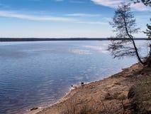 Ochtend op het reservoir Royalty-vrije Stock Foto