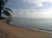 Ochtend op het strand Royalty-vrije Stock Fotografie