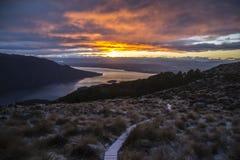 Ochtend op Kepler-Spoor, Nieuw Zeeland Stock Fotografie