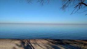 Ochtend op Meer Michigan 2 Royalty-vrije Stock Fotografie