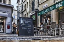 Ochtend op zijn plaats du Change- Avignon, Frankrijk Royalty-vrije Stock Afbeelding