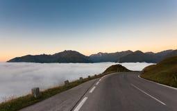 Ochtend over wolken Royalty-vrije Stock Afbeelding
