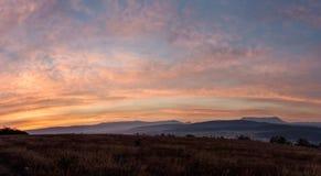 Ochtend panoramisch landschap Royalty-vrije Stock Afbeeldingen