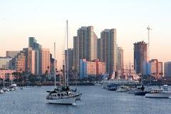 Ochtend. San Diego, CA.Skyline. Stock Foto
