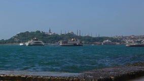Ochtend seawaves in Turkije stock videobeelden