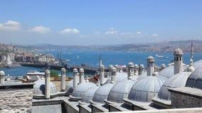 Ochtend seawaves in Turkije stock video