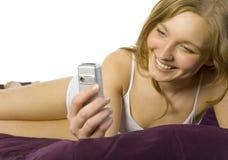 Ochtend sms? Royalty-vrije Stock Foto's