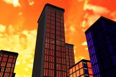 Ochtend in stad vector illustratie
