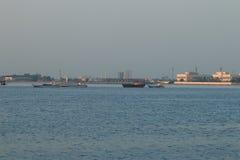 Ochtend in Umm al-Quwain Royalty-vrije Stock Afbeeldingen