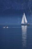 Ochtend van Meer Traunsee, Boven-Oostenrijk Stock Afbeeldingen