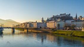 Ochtend van Salzburg Stock Afbeeldingen