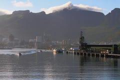 Ochtend van zeehaven op overzeese kusthaven Louis, Mauritius Royalty-vrije Stock Foto's