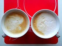 Ochtendcaffee voor twee Stock Afbeeldingen